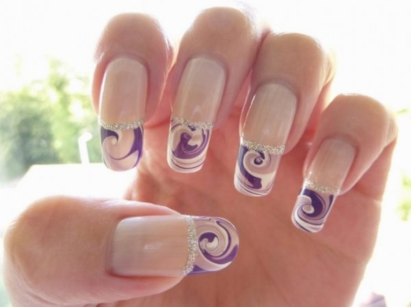 Pretty-Water-Marble-Nail-Art-Ideas-for-Long-Nails