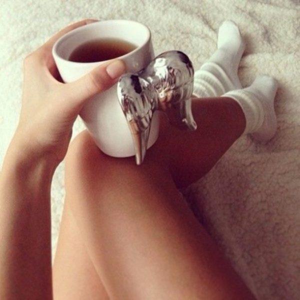 angel wings tea cup