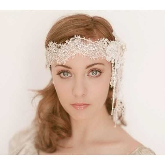 beautiful bridal headpiece 2
