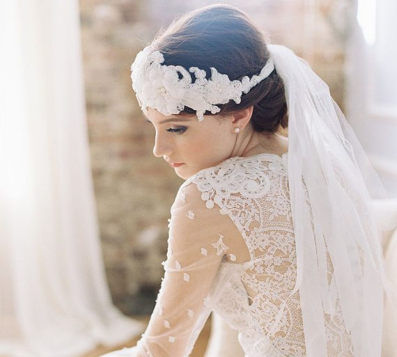 beautiful bridal headpiece 7