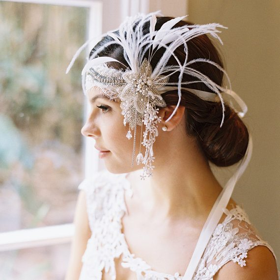 beautiful bridal headpiece 8