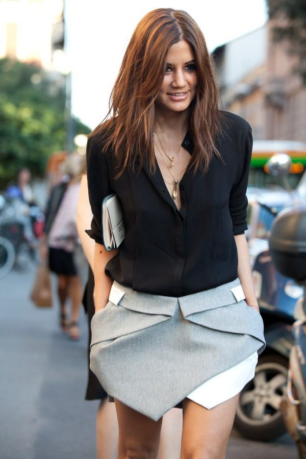 Grey And Black Skirt - Dress Ala