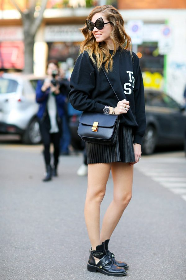 black outfit street style