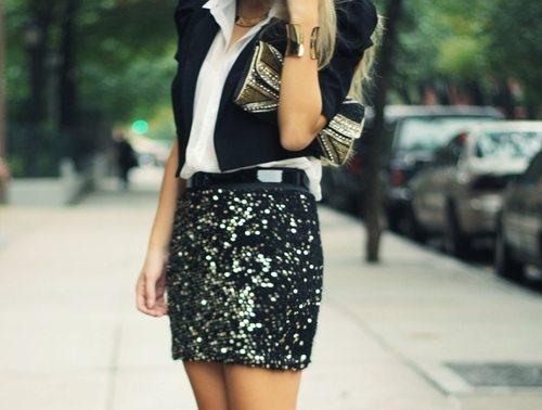 black sparkle skirt tumblr