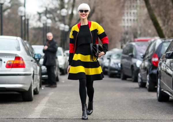black yellow outfit