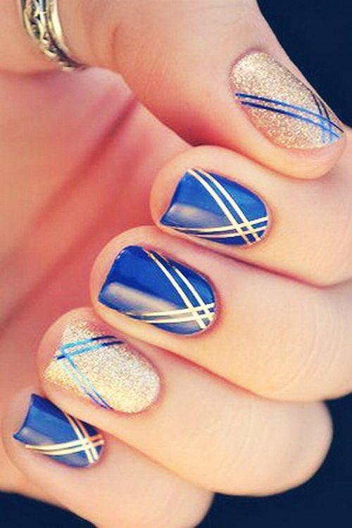 blue nail designs 2014