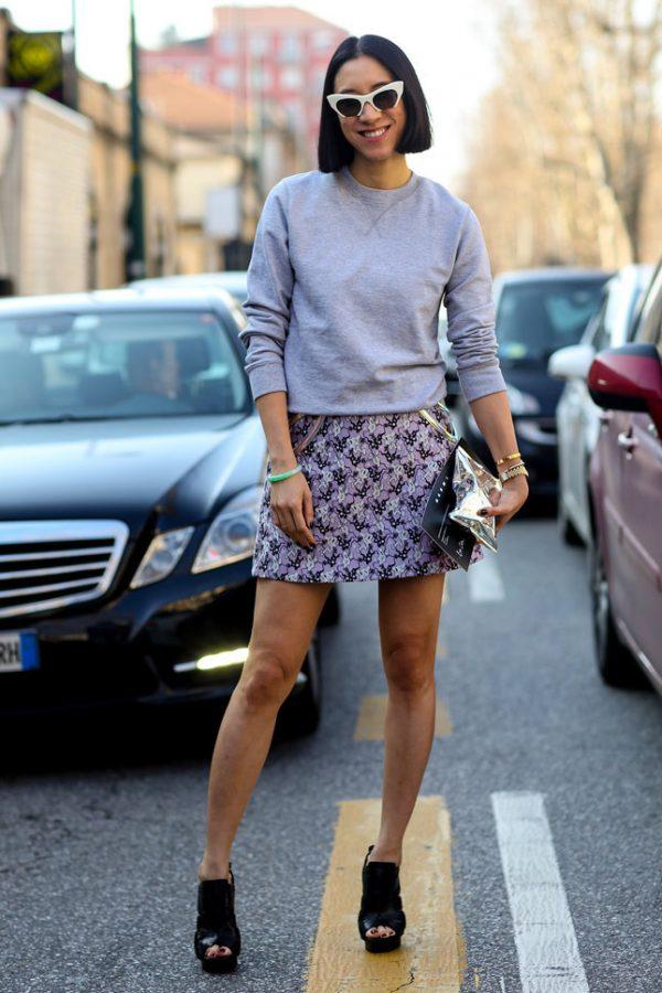 classy mini skirt