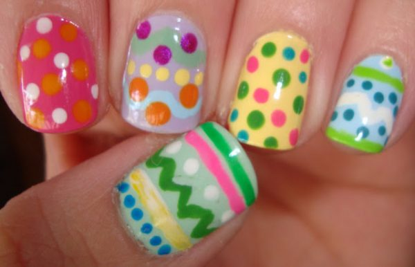 colorful easter nail art