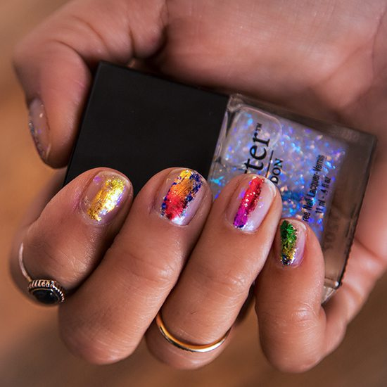 colorful hot nail design