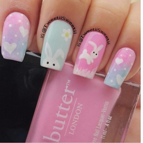 cute easter nail art - 15 The Cutest Easter Nail Art - Be Modish