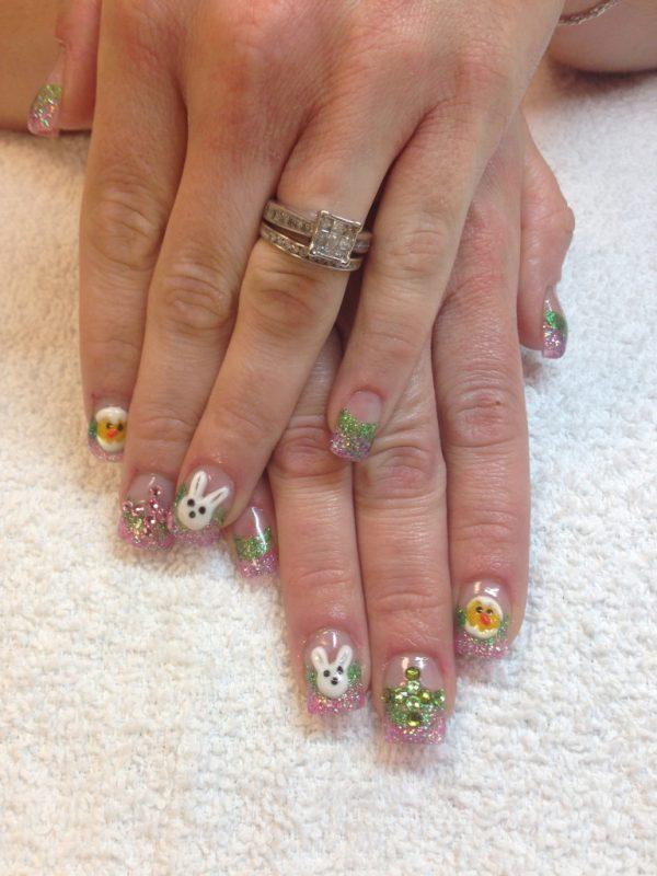 cute easter nail art