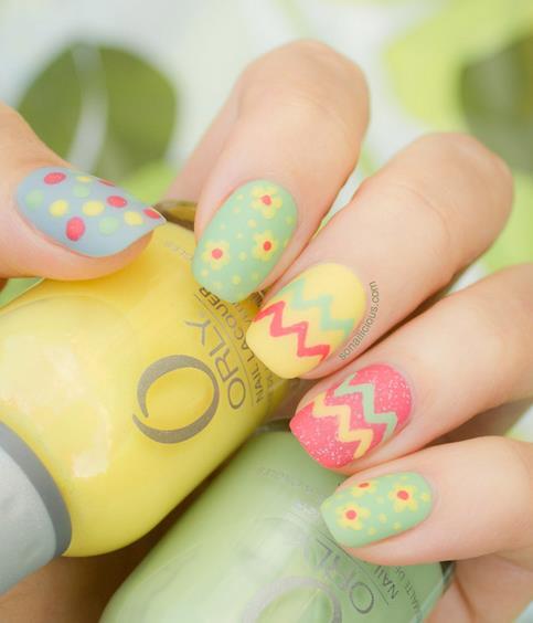 cute easter nail design 2