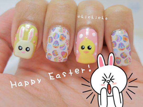 cute easter nail design 3