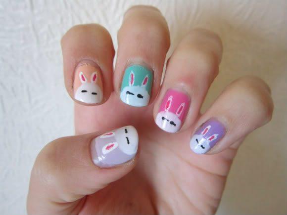 cute easter nail design