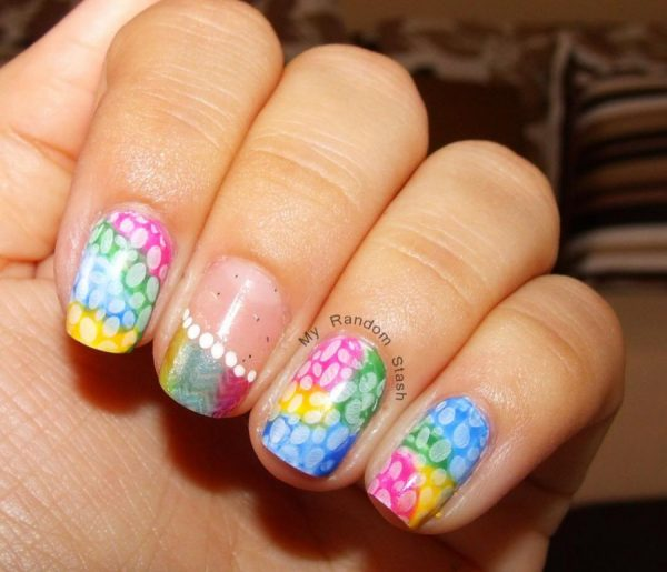 diy-rainbow-easter-nail-designs - 15 The Cutest Easter Nail Art - Be Modish