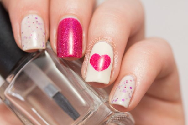 easy valentines nail designs