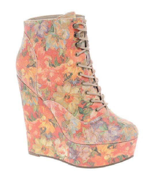 floral pastel booties 1