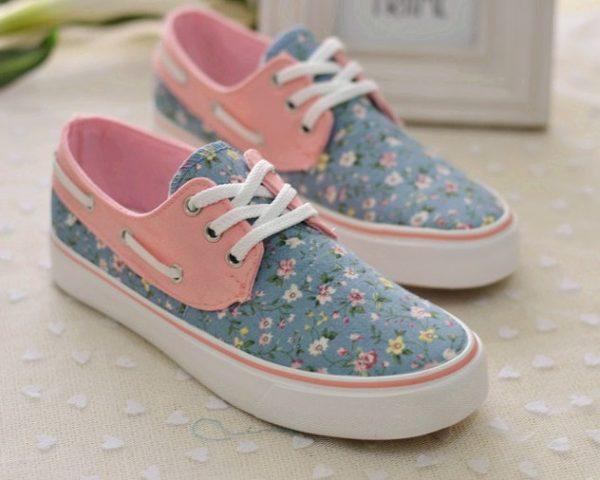 floral pastel sneaker