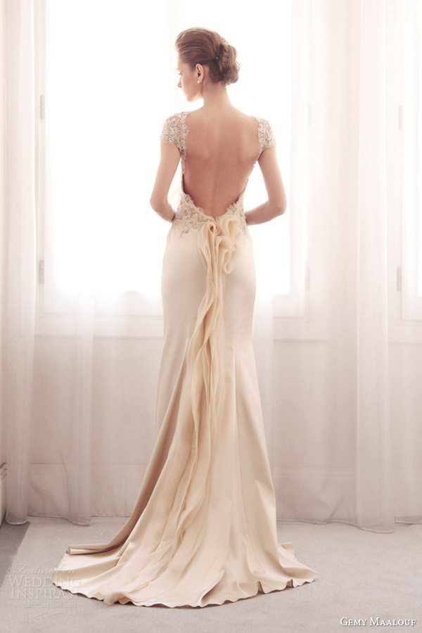 gemy-maalouf-2014-bridal-color-wedding-dress-3753-back-train-detail