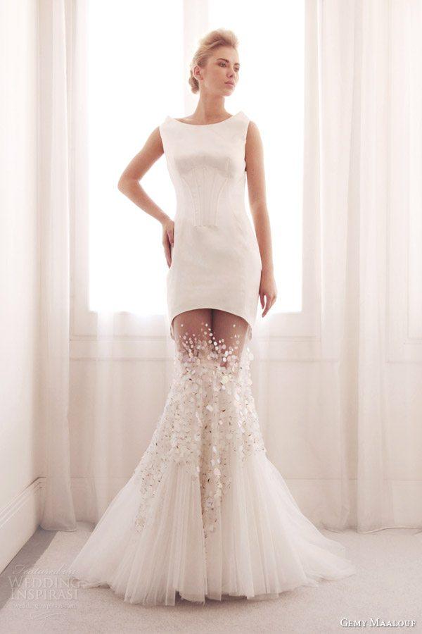 gemy-maalouf-bridal-2014-sleeveless-mermaid-wedding-dress-sheer-skirt-3699