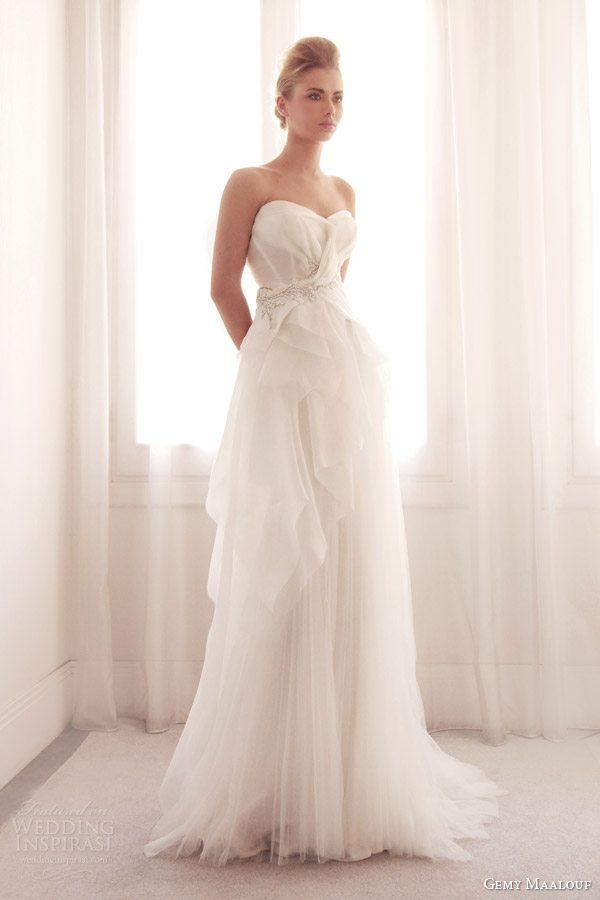 gemy-maalouf-bridal-2014-strapless-wedding-dress-layered-skirt