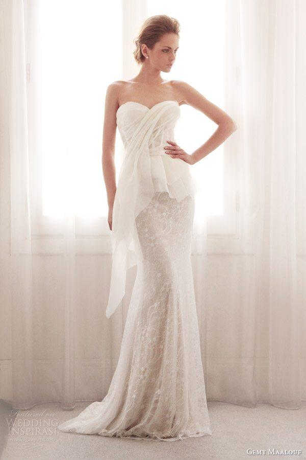 gemy-maalouf-bridal-couture-2014-strapless-peplum-top-skirt-3716-3758