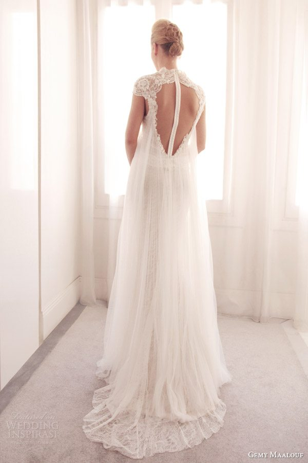 gemy-maalouf-wedding-dress-2014-bridal-gown-with-overlay-3706-back-view