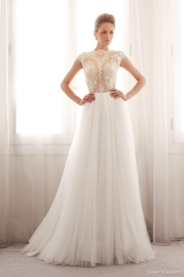 gemy-maalouf-wedding-dresses-2014-bridal-lace-cap-sleeve-top-3239B-3759S-skirt