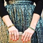 green sparkle skirt