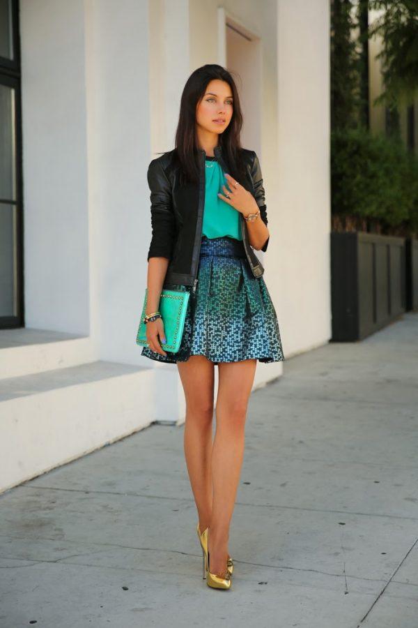 green sparkle skirt 2