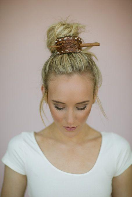 hair bun with boho ahir bun clip