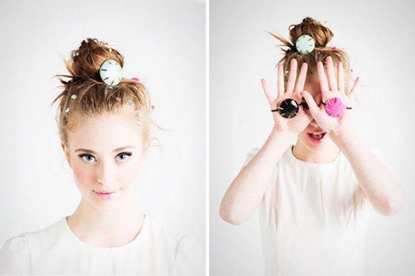 hair bun with hair gems
