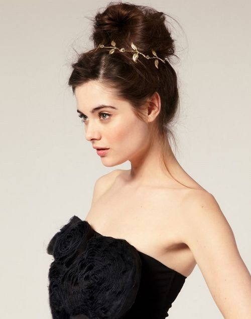 hair bun with headband