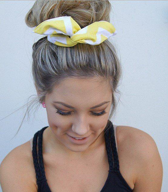 hair bun with wired bun warps