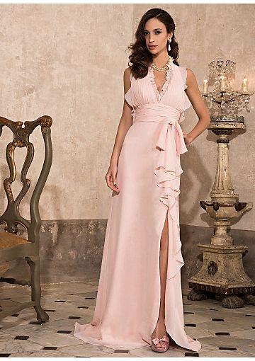 halter-top-pink-chiffon-long-junior-prom-dress