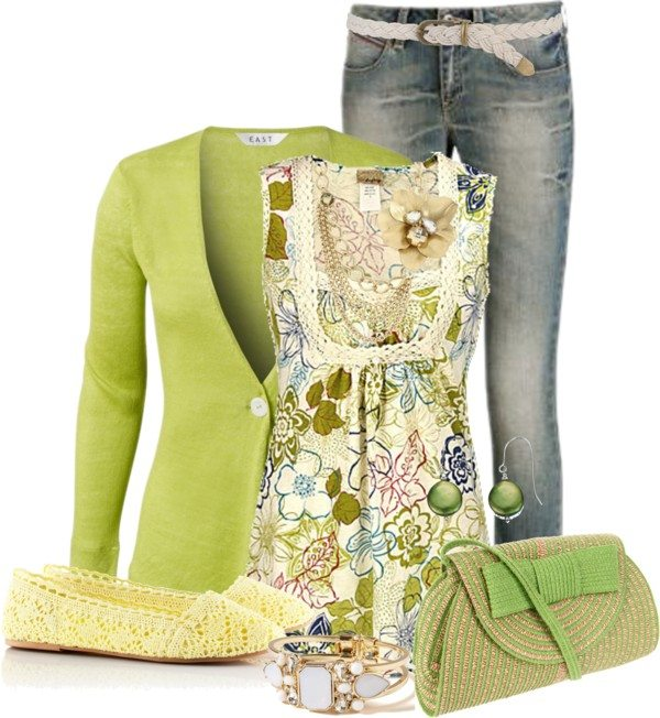 lime green outfit for easter