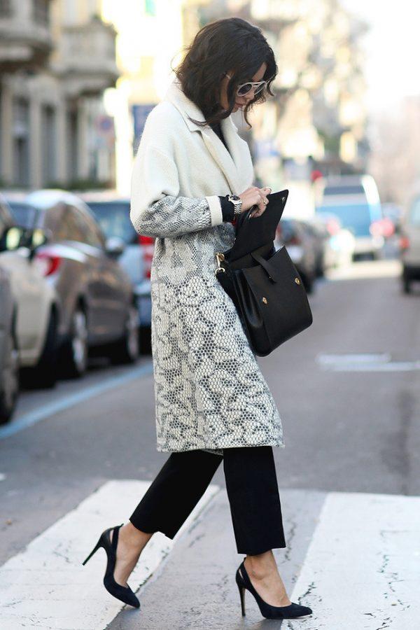 long coat milan street style