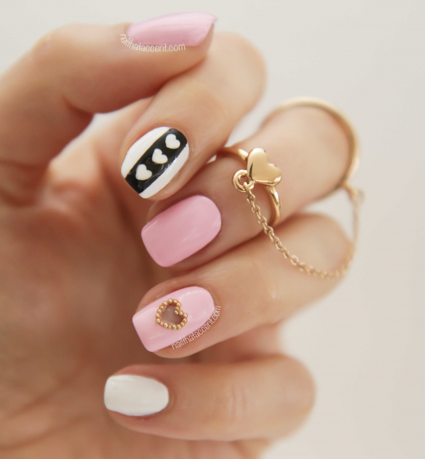nail art valentine day