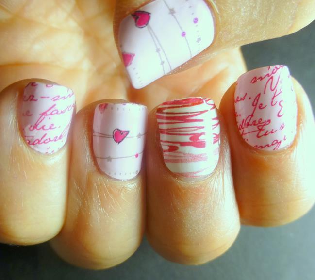 nail design valentine 2014