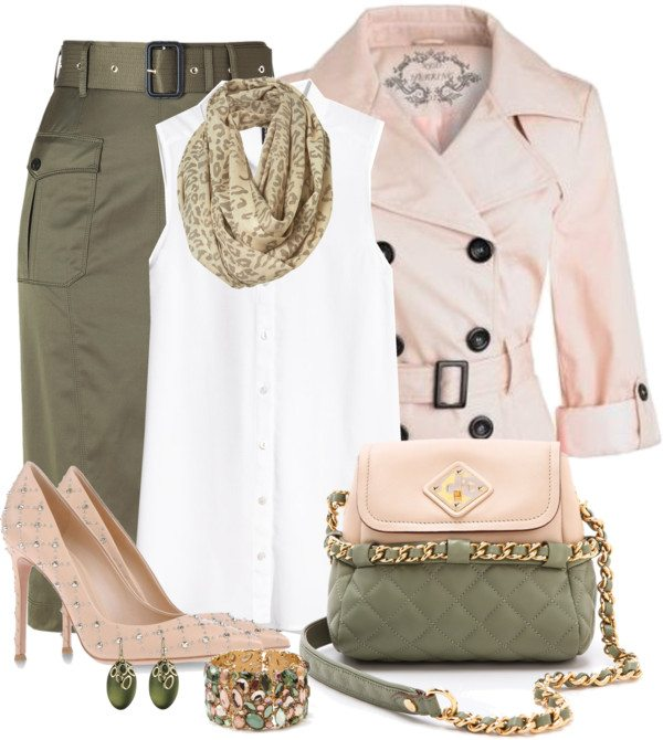 olive green and pink easter outfit ideas