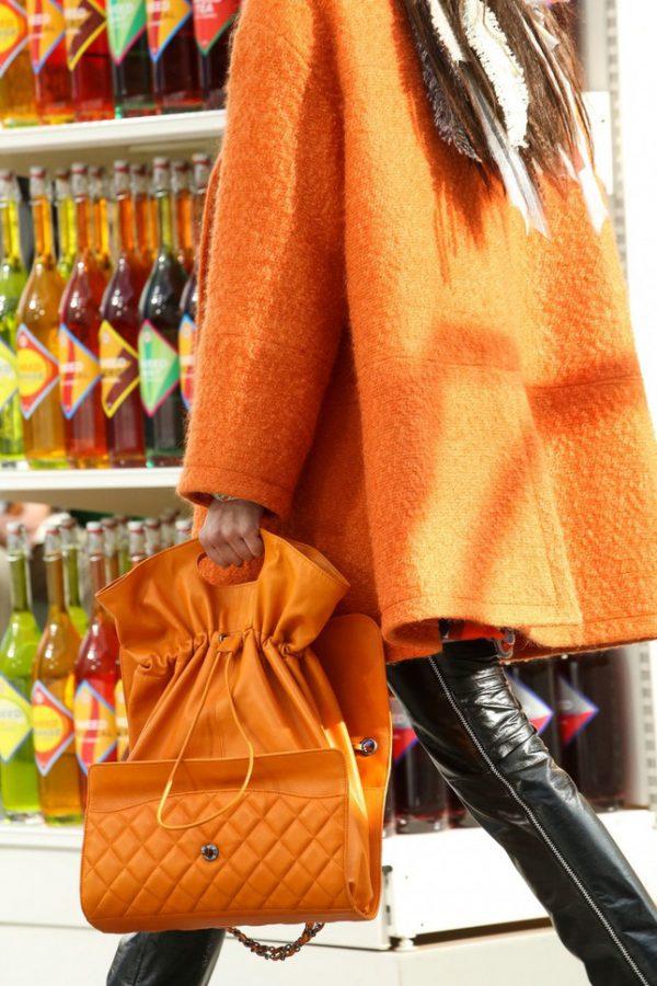 orange chanel handbag