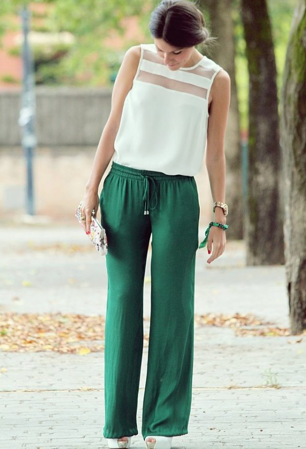 cute outfit with palazzo trousers 5