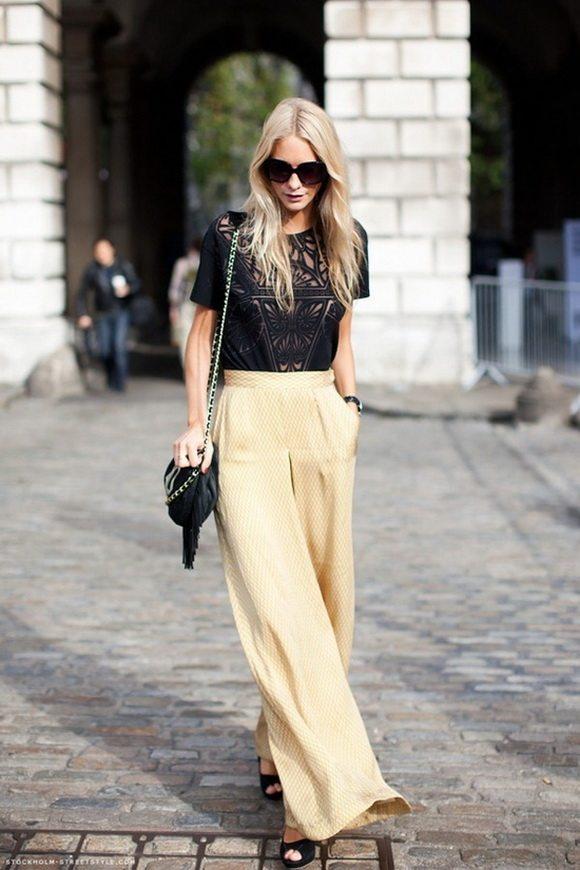 modern palazzo pants outfit