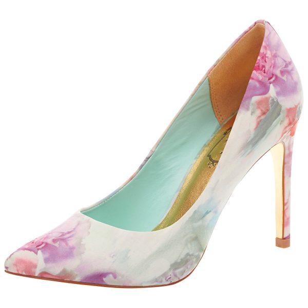 soft pastel floral heels