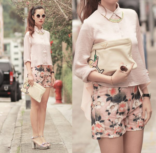 pastel floral spring outfit 2014