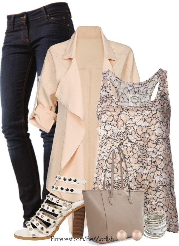 peach outfit ideas with cardigans