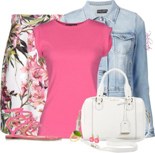 pink floral easter outfit polyvore