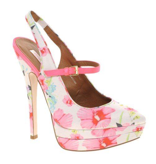 pink pastel floral heels 1