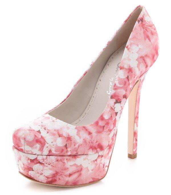 soft pink  floral heels 3