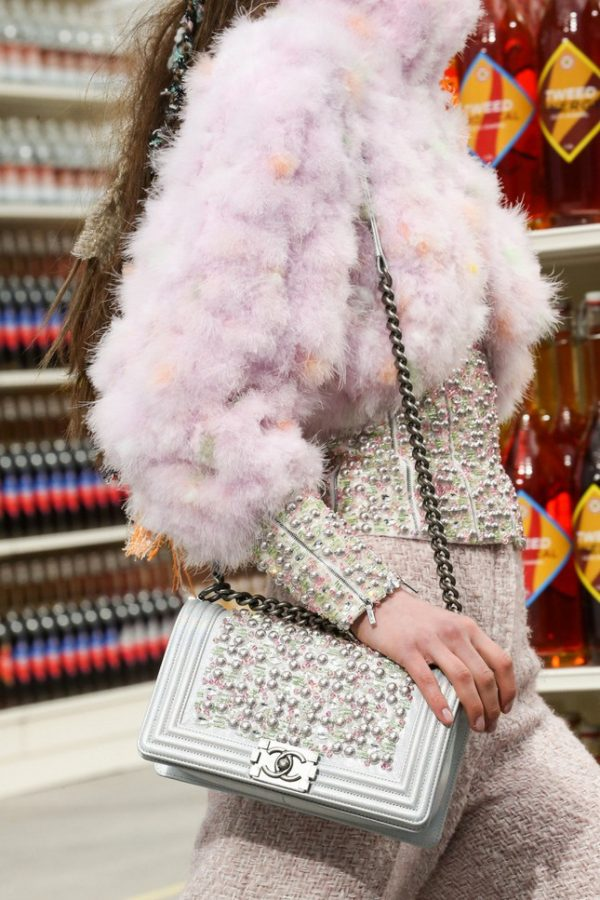 pink pearl chanel crossbody bag